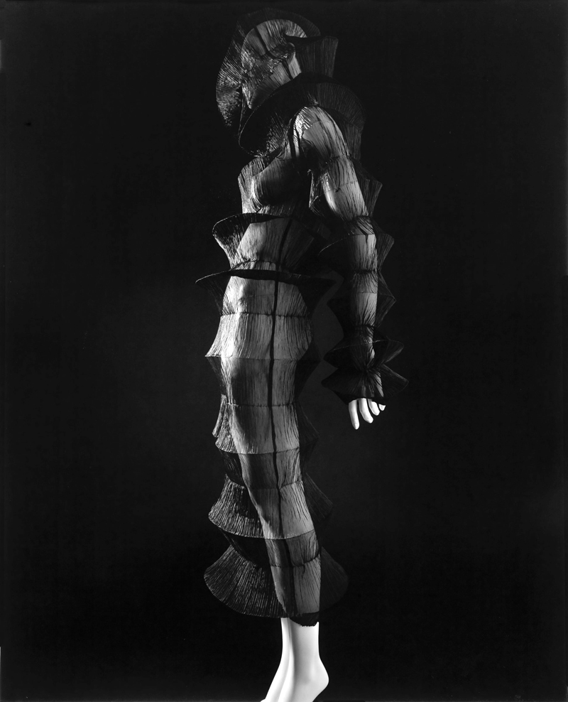 Photograph by Hiroshi Sugimoto, 2007. Dress by Issey Miyake, Spring/Summer 1994. Pleated polyester. Collection of the Kyoto Costume Institute.