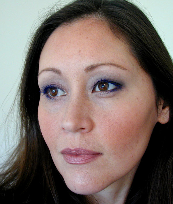 Sonja wearing Estee Lauder Sumptuous Color Bold Volume Lifting Mascara