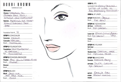 Bobbi Brown Holiday Makeup Face Chart